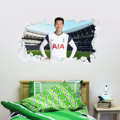 Tottenham Hotspur Football Club - Son Heung-min 20/21 Broken Wall Sticker + Spurs Wall Sticker Set