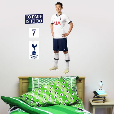 Tottenham Hotspur Football Club - Son Heung-min Player Wall Mural + Spurs Wall Sticker Set