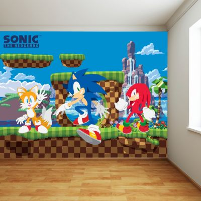 Sonic The Hedgehog Full Wall Mural