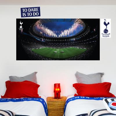 Tottenham Hotspur Football Club - Stadium Mural (Inside Fireworks) + Spurs Wall Sticker Set