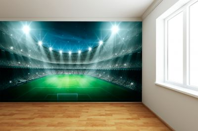 Football Stadium Lights (Full Wall) Mural