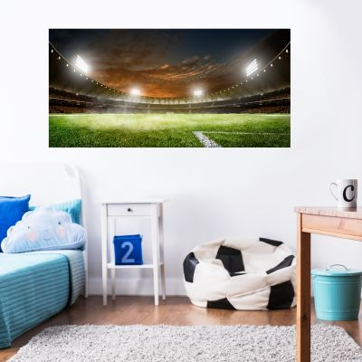 Football Stadium Night Wall Sticker