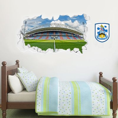 Huddersfield Town Football Club - Smashed Kirklees Stadium (Wide Shot) + Terriers Wall Sticker Set
