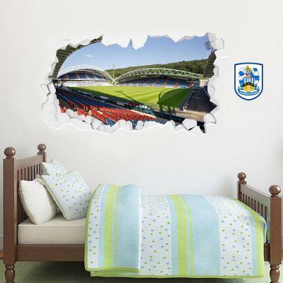 Huddersfield Town Football Club - Smashed Kirklees Stadium (Corner Shot) + Terriers Wall Sticker Set