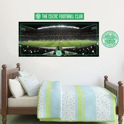 Celtic Football Club - Celtic Park Stadium Wall Mural + Celts Wall Sticker Set