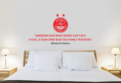 Aberdeen Football Club - Di Stefano Quote & The Dons Crest Wall Sticker