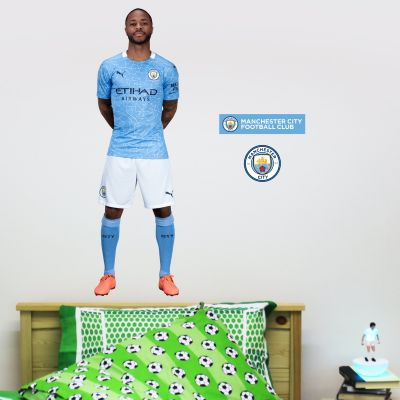 Manchester City FC - Raheem Sterling 20/21 Player Decal + Wall Sticker Set
