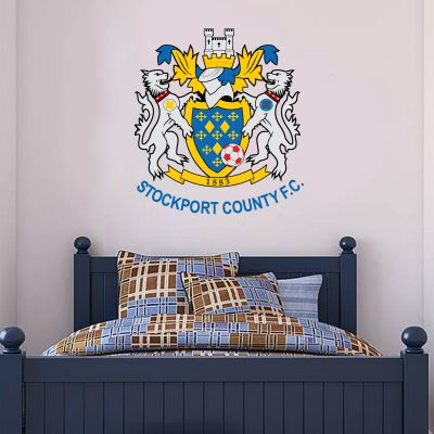 Stockport County F.C. - Crest + Hatters Wall Sticker Set