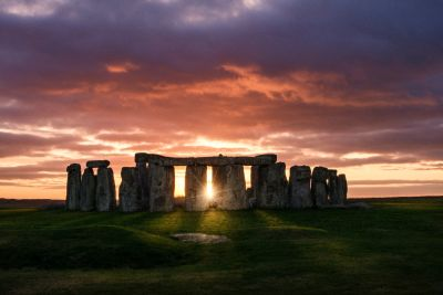 Stone Henge at Sunset Wall Mural