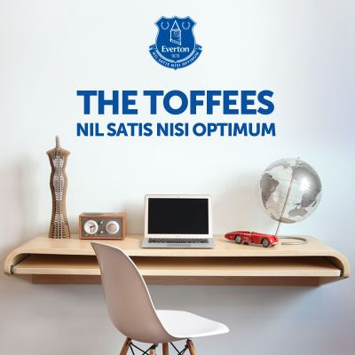 Everton Football Club - 'The Toffees' & Crest Wall Sticker
