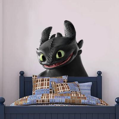 How To Train Your Dragon - Toothless Head Wall Sticker