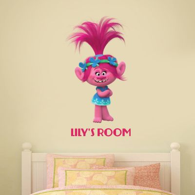 Trolls - Poppy Personalised Wall Sticker
