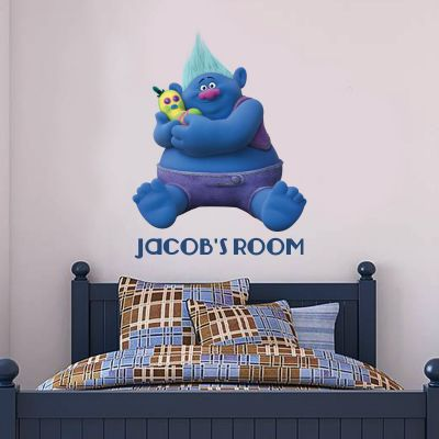 Trolls - Biggie & Mr Dinkle Personalised Wall Sticker