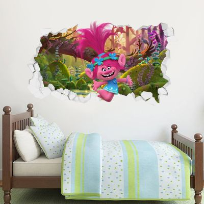 Trolls - Poppy Forest Adventure Broken Wall Sticker