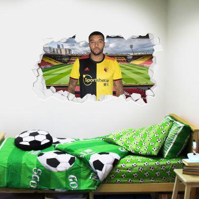 Watford FC - Troy Deeney Broken Wall Sticker + Decal Set