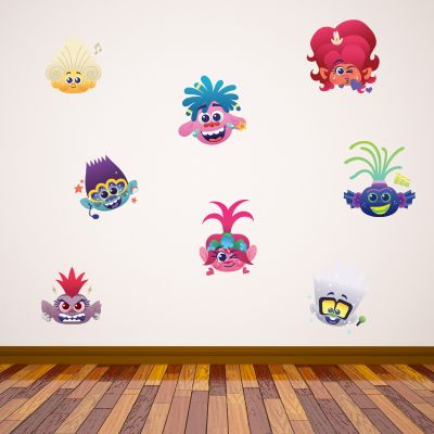 Trolls World Tour - Trolls Emoji Wall Sticker Set