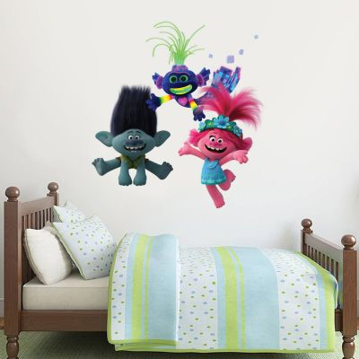 Trolls World Tour - Poppy, Branch, Trollex Wall Sticker