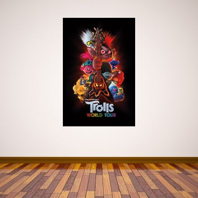 Trolls World Tour - Guitar Poster Wall Sticker
