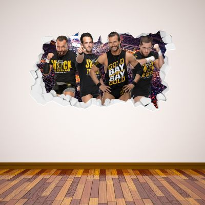 WWE - Undisputed Era Group Broken Wall Sticker