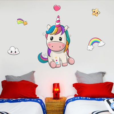 Unicorn Wall Sticker Baby Unicorn Set
