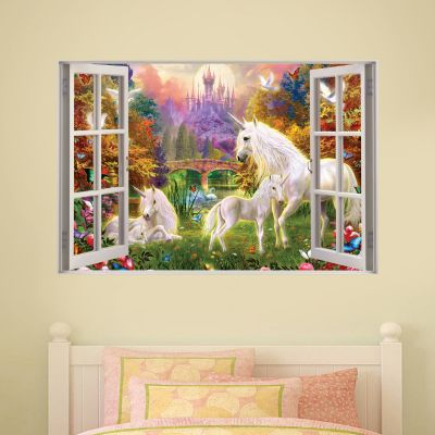 Unicorn Wall Sticker Unicorn Castle Window