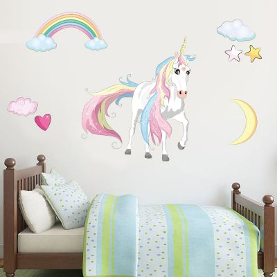 Unicorn Wall Sticker Unicorn Rainbow Cloud Set
