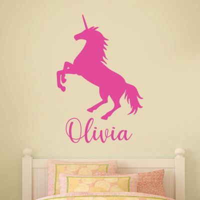 Unicorn Wall Sticker Unicorn Silhouette and Personalised Name