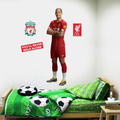 Liverpool FC - Virgil Van Dijk Player Decal + LFC Wall Sticker Set