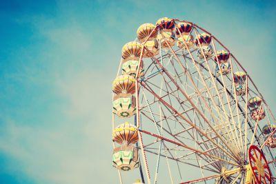 Vintage Ferris Wheel Wall Mural
