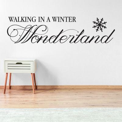 Walking In A Winter Wonderland Wall Sticker