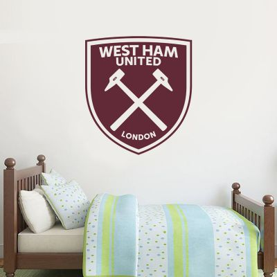 West Ham United Football Club - One Colour Crest (Option 2) + Wall Sticker Set