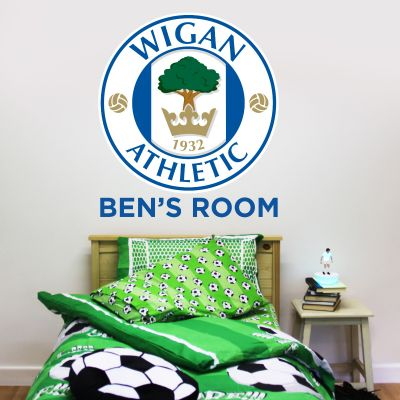 Wigan Athletic F.C. Crest & Personalised Name Wall Sticker