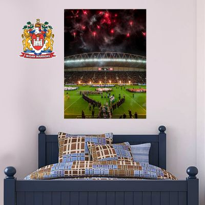 Wigan Warriors Rugby Club Firework Wall Mural Wall Sticker