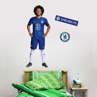 Chelsea FC - Willian 20/21 Player Decal + CFC Wall Sticker Set