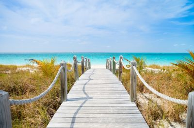 Wooden Walkway to Beach Wall Mural