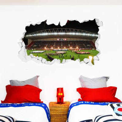Wigan Warriors Rugby Club Night Time Stadium Smashed Wall Sticker