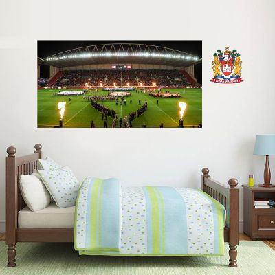 Wigan Warriors Rugby Club Stadium Night Time Wall Sticker