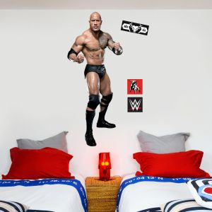WWE - The Rock Wrestler Decal 2 + Bonus Wall Sticker Set