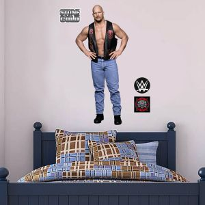 WWE - Stone Cold Steve Austin Wrestler Decal + Bonus Wall Sticker Set