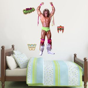 WWE - Ultimate Warrior Wrestler Decal + Bonus Wall Sticker Set