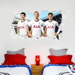 Tottenham Hotspur Football Club - Attacking Trio Broken Wall Sticker + Spurs Wall Sticker Set