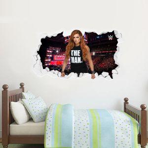WWE - Becky Lynch Broken Wall Sticker