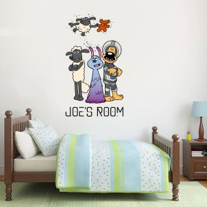 Shaun The Sheep: Farmageddon Lu-La And Friends Personalised Wall Sticker
