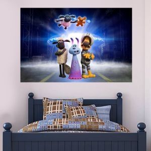 Shaun The Sheep: Farmageddon Lu-La Space ship Wall Sticker