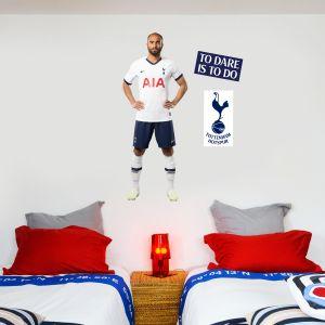 Tottenham Hotspur FC - Lucas Moura Player Wall Mural + Spurs Wall Sticker Set