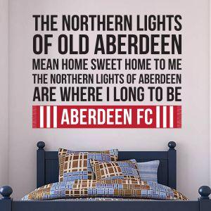 Aberdeen Football Club - Northern Lights Song Wall Sticker