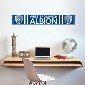 West Bromwich Albion Football Club - Bar Scarf Wall Sticker