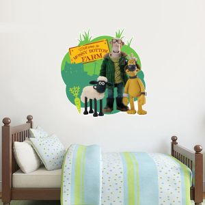 Shaun The Sheep - Mossy Bottom Farm Wall Sticker