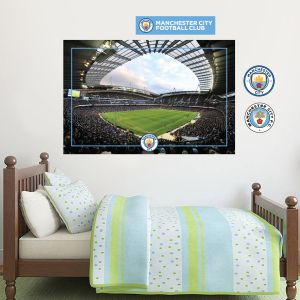 Manchester City Football Club - Etihad Stadium Wall Decal + Bonus Wall Sticker Set
