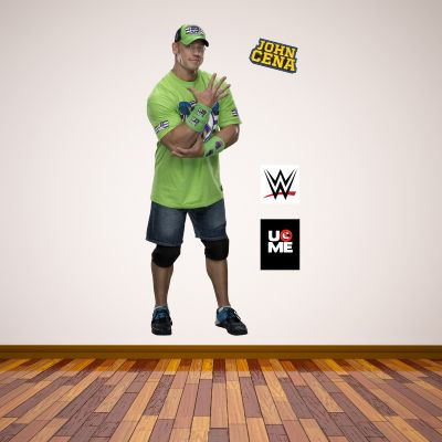 WWE - John Cena Wrestler Decal 2 + Bonus Wall Sticker Set